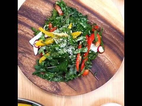 【Diety】栄養の塊!ケールサラダ ヘンプナッツ キウイドレッシング