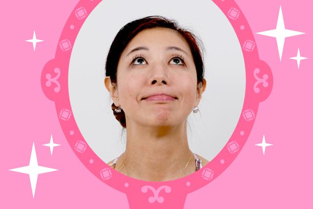 菊池和香子の顔ヨガナポレオンフィッシュの顔の画像