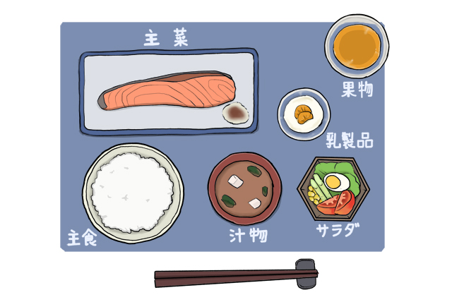 ランナーのための「バランスの良い食事」の具体例の画像