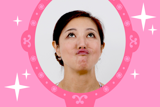 菊池和香子の顔ヨガ「チワワの顔」の画像