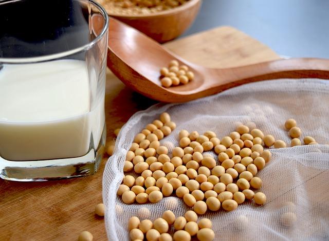 豆乳,大豆の画像