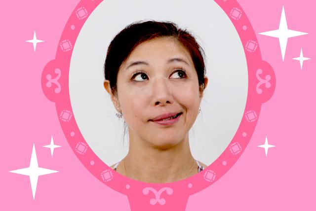 顔ヨガをする菊池和香子の画像