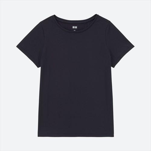 UNIQLO「ドライEXマッピングクルーネックT(半袖)ネイビー」