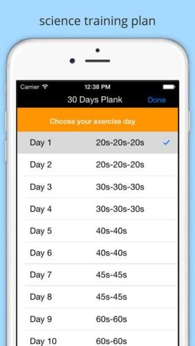 30日プランクアプリのスクリーンショット