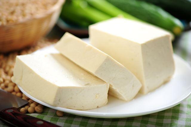 切った豆腐の画像